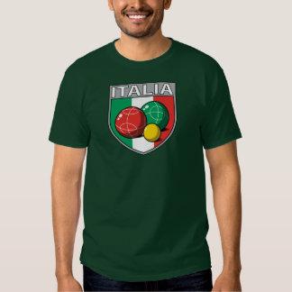 Italia Bocce Shield Men's Dark T-Shirt
