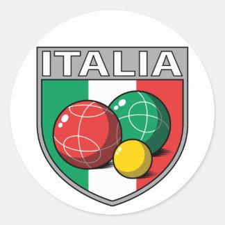 Italia Bocce Shield Round Sticker