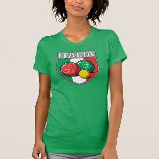 Italia Bocce Shield Women's Dark T-Shirt