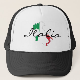 Italia Boot of Italy Italian Flag Trucker's Hat