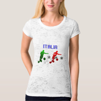 Italia Calcio Bend It Soccer Player Italy flag T-Shirt