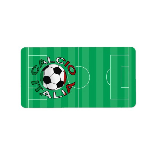 Italia Calcio Italy Football Address Label