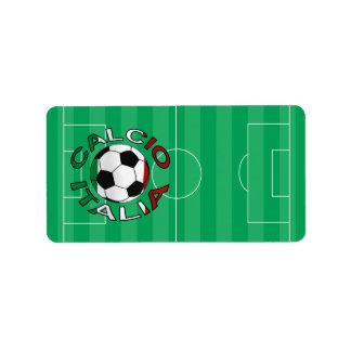 Italia Calcio Italy Football Label