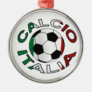 Italia Calcio Italy Football Silver-Colored Round Decoration