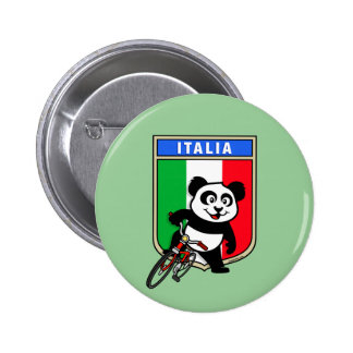 Italia Cycling Panda 6 Cm Round Badge