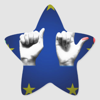 italia europe black star sticker