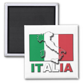 Italia Flag Land Fridge Magnet