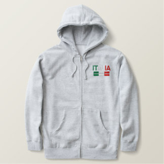 Italia-Flag of Italy Embroidered Hoodie