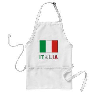 Italia Flag & Word Adult Apron