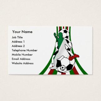 italia, football soccer coach business cards