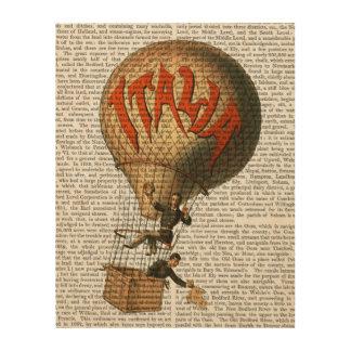 Italia Hot Air Balloon Wood Print
