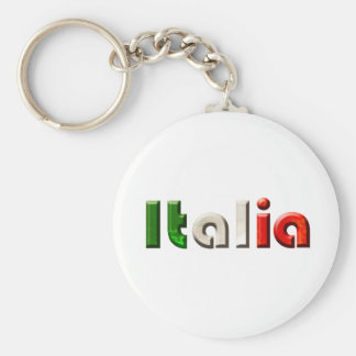 Italia logo gifts for Italians and Italy lovers Basic Round Button Key Ring