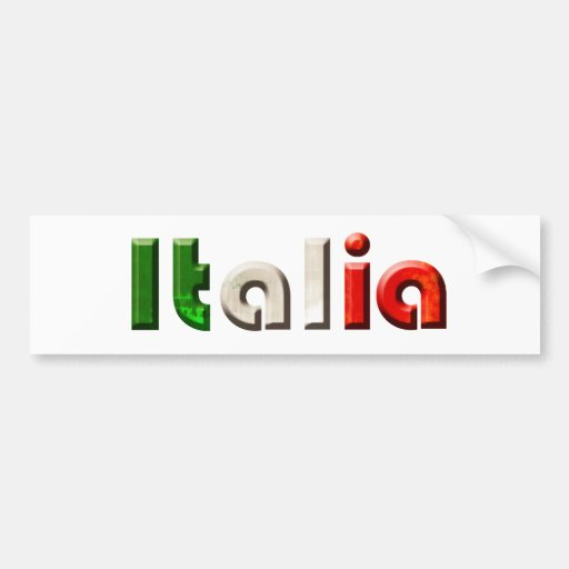 Italia logo gifts for Italians and Italy lovers Bumper Stickers