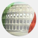 italia round sticker