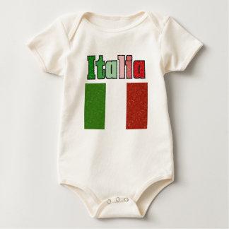 Italia Vintage Flag Baby Shirt