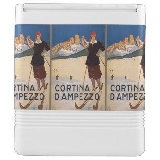 Italian Alps Italy Vintage Travel custom cooler Igloo Cool Box