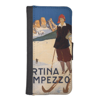 Italian Alps vintage travel phone wallets