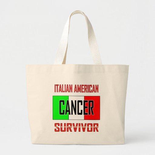 Italian American Cancer Survivor Canvas Bag