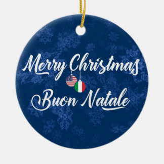 Italian American Holiday Decoration, Buon Natale Christmas Ornament
