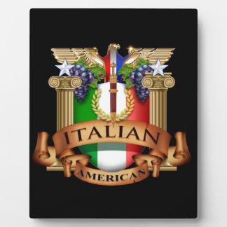 Italian American Plaque