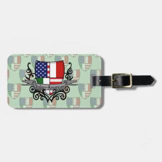 Italian-American Shield Flag Luggage Tag
