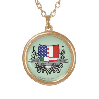 Italian-American Shield Flag Necklace