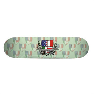 Italian-American Shield Flag Skateboard Deck