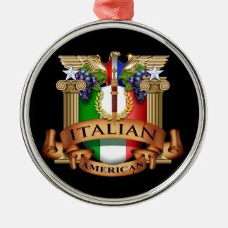 Italian American Silver-Colored Round Decoration