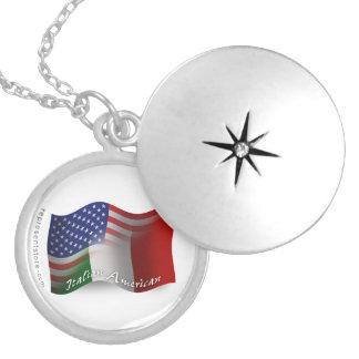 Italian-American Waving Flag Pendants