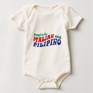 Italian and Filipino Baby Bodysuit