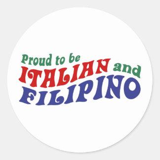 Italian and Filipino Stickers