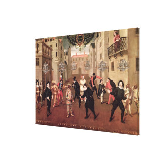Italian and French Comedians Canvas Print
