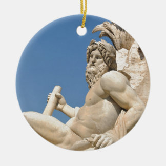 Italian architecture in Piazza Navona,Rome, Italy Christmas Ornament