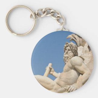 Italian architecture in Piazza Navona,Rome, Italy Key Ring