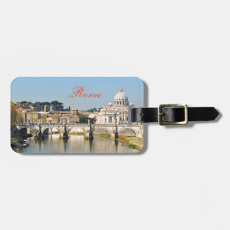 Italian architecture in Rome, Italy Luggage Tag