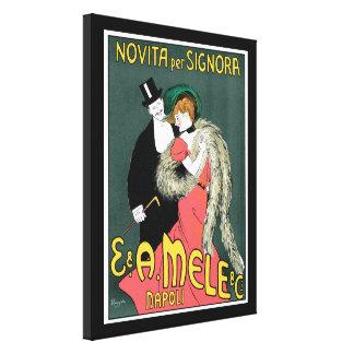 Italian Art Nouveau Fashion Ad Canvas Print