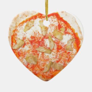 Italian Artichoke Pizza Pizza Carciofi Vegetables Ceramic Heart Decoration