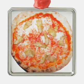 Italian Artichoke Pizza Pizza Carciofi Vegetables Silver-Colored Square Decoration