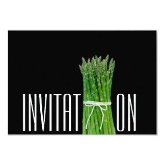 Italian Asparagus Chic Restaurant Dinner Chef Card