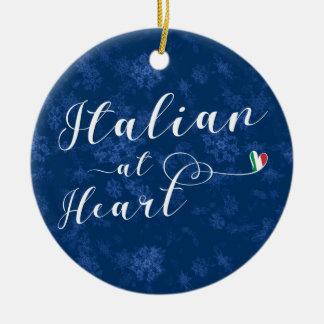 Italian At Heart, Christmas Tree Ornament, Italy Christmas Ornament