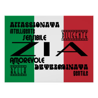 Italian Aunts : Qualities Poster