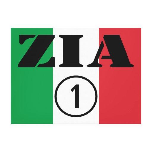 Italian Aunts : Zia Numero Uno Gallery Wrapped Canvas