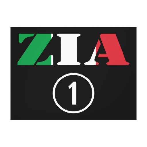 Italian Aunts : Zia Numero Uno Stretched Canvas Print