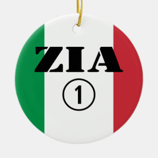Italian Aunts : Zia Numero Uno Christmas Ornament