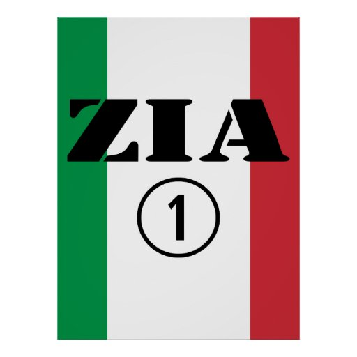 Italian Aunts : Zia Numero Uno Print