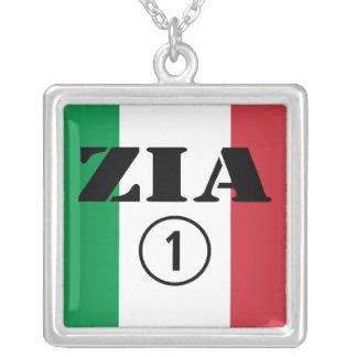 Italian Aunts : Zia Numero Uno Silver Plated Necklace
