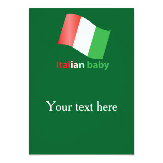 Italian baby 13 cm x 18 cm invitation card