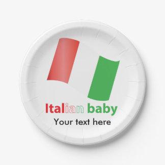 Italian baby 7 inch paper plate