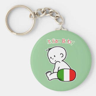 Italian Baby Basic Round Button Key Ring