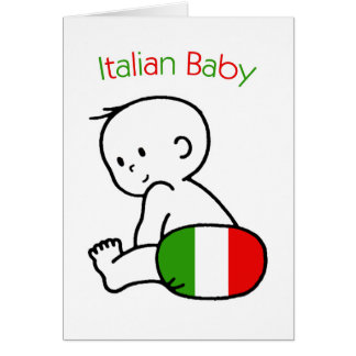 Italian Baby Greeting Cards